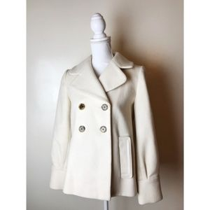 Banana Republic • Cream Pea Coat